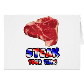 Steak your time card