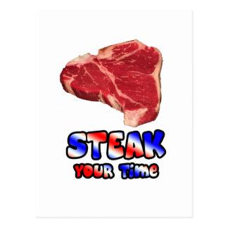 Steak your time postcard