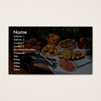 Steaks, burgers, chicken business card