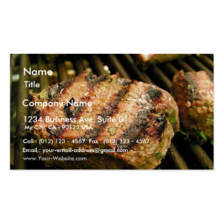 Steaks Food Dinner Grilling Double-Sided Standard Business Cards (Pack Of 100)