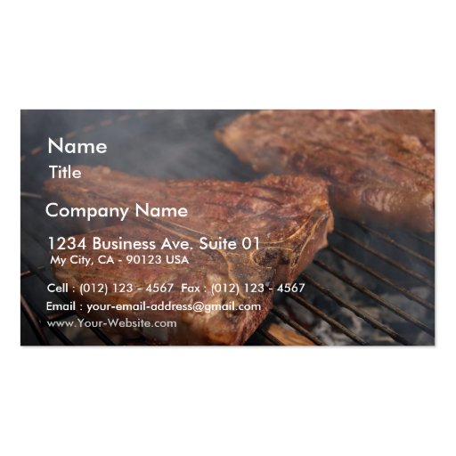 Barbecue business card templates bizcardstudio for Bbq business cards