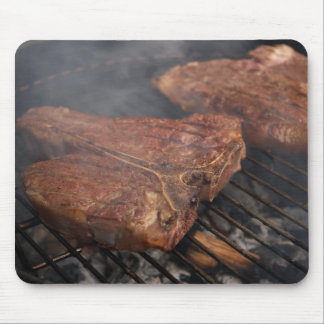 Steaks Grilling Barbecue Grills Meat Mouse Pads