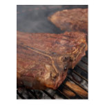Steaks Grilling Barbecue Grills Meat Postcards