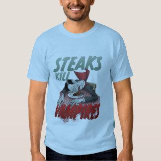 Steaks Kill Vampires Tee Shirt