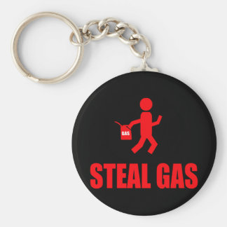 Steal Gas Keychain