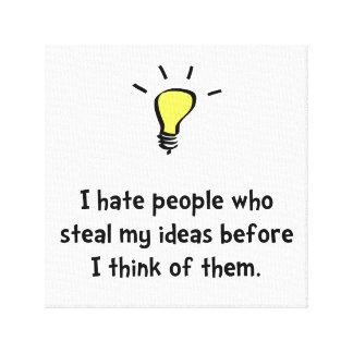 Steal Ideas Canvas Print