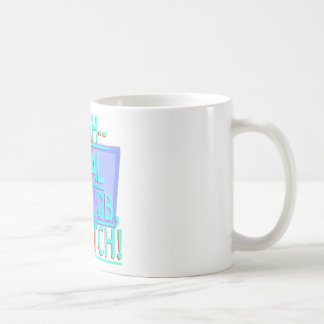 Steal Your Job Cyan & Blue Classic White Coffee Mug