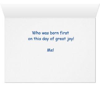 Stealer del cumpleaños tarjeta de felicitación
