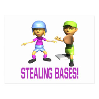 Stealing Bases Postcard