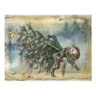 Stealing Christmas Postcard