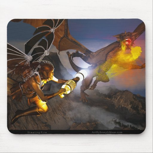 Stealing Fire Mouse Pad