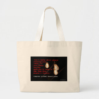 Stealing Ideas Large Tote Bag