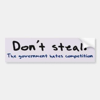 Stealing is wrong bumper sticker