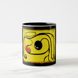 stealing my bread Two-Tone coffee mug