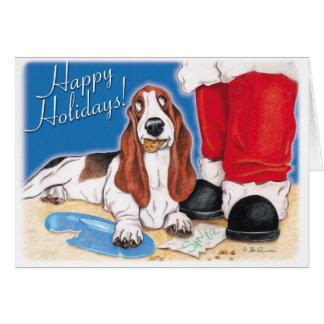 Stealing Santa's Cookies! Greeting Card