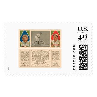 Stealing Third Red Sox Baseball 1912 Postage Stamp