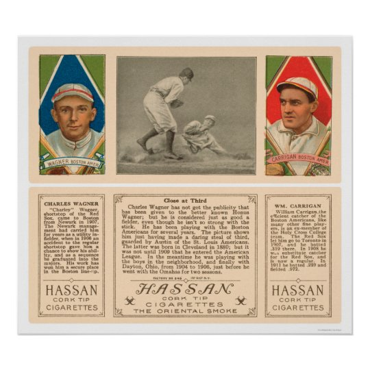 Stealing Third Red Sox Baseball 1912 Poster