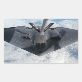 Stealth Bomber Rectangular Sticker