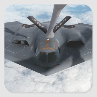 Stealth Bomber Square Sticker
