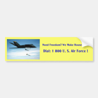 stealth fighter, Need Freedom? We Make House Ca... Car Bumper Sticker