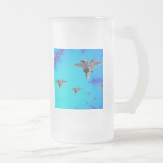 'Stealth Formation' Frosted Glass Beer Mug