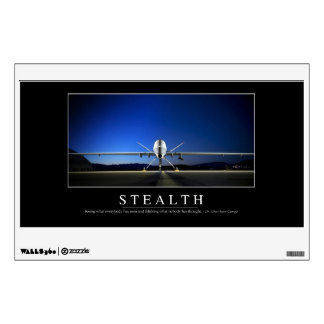 Stealth: Inspirational Quote Wall Decal