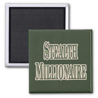 Stealth Millionaire 2 Inch Square Magnet