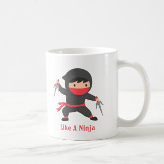 Stealth Ninja with Sai Weapons for Kids Coffee Mug