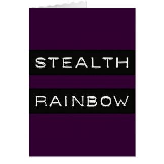 Stealth Rainbow Tag Cards