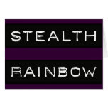 Stealth Rainbow Tag Greeting Card
