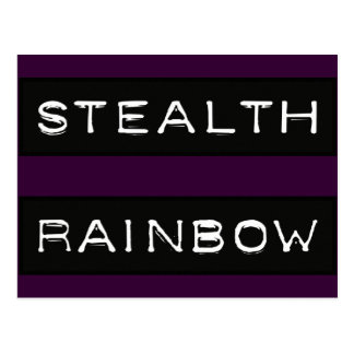 Stealth Rainbow Tag Postcard
