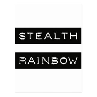 Stealth Rainbow Tag Postcard
