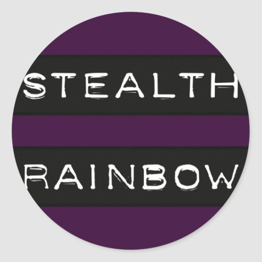 Stealth Rainbow Tag Round Stickers