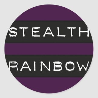 Stealth Rainbow Tag Classic Round Sticker