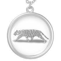 STEALTH TIGER SILVER PLATED NECKLACE