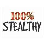 Stealthy 100 Percent Postcard
