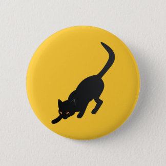 """""""Stealthy Black Cat"""" Pinback Button"""