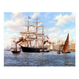 Steam and sail at Greenwhich Postcard
