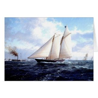 Steam and sail together card