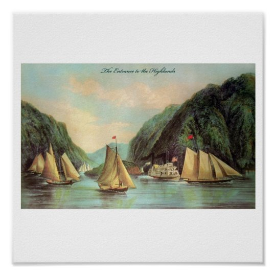 Steam and Sailing Ship Poster