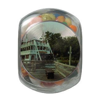 Steam Boat Glass Jar