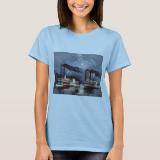 Steam Boat Racing on Mississippi River T-Shirt