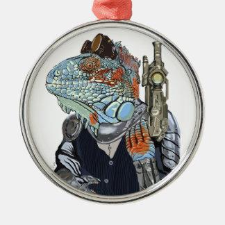 Steam Dragon Sheriff Metal Ornament