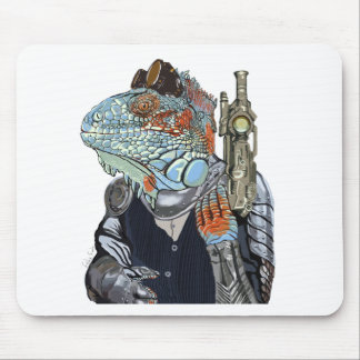 Steam Dragon Sheriff Mouse Pad