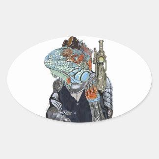 Steam Dragon Sheriff Oval Sticker