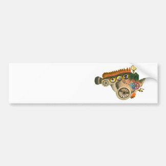 Steam Driven Big Bad Fish ~ Steampunk Bumper Sticker