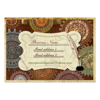 Steam Elegance ANTIQUE COSTUME RE-INACT Large Business Card