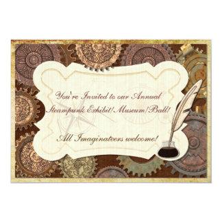 Steam Elegance Steampunk BALL CONVENTION EXHIBIT 5x7 Paper Invitation Card