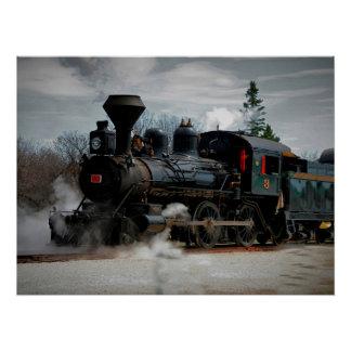 Steam Engine #3 Prairie Dog Central Poster