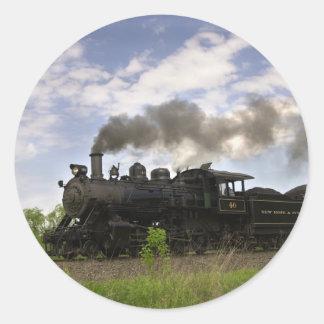 Steam Engine #40 Classic Round Sticker